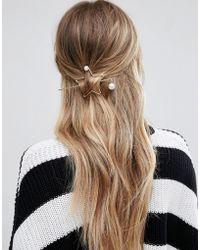 Glamorous - Minimal Star Through Hair Pin - Lyst