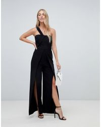 85fc9f0ee04 Forever New - Tailored Jumpsuit With Split Leg In Black - Lyst