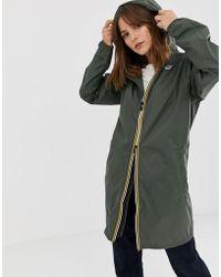 K-Way - Eiffel Longline Waterproof Jacket - Lyst