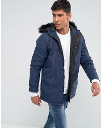 Tokyo Laundry - Parka Jacket With Faux Fur Hood - Lyst