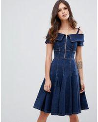 Miss Sixty - Flare Denim Dress - Lyst
