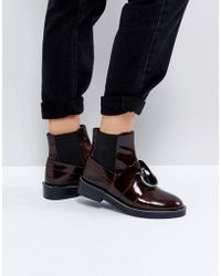 ASOS - Adel Leather Ring Ankle Boots - Lyst