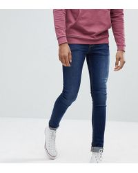 ASOS - Asos Tall Extreme Super Skinny Jeans In Dark Wash - Lyst