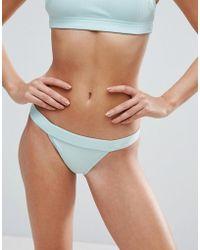 ASOS - Mix And Match Deep Band Brazillian Bikini Bottom In Rib - Lyst