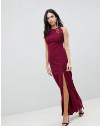 AX Paris - Slinky Maxi Dress With Side Slit - Lyst