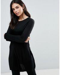 Dex - Long Sleeve Skater Jersey Dress - Lyst