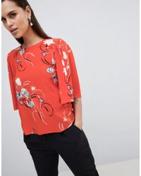 Y.A.S - Floral Print Top With Kimono Sleeve - Lyst