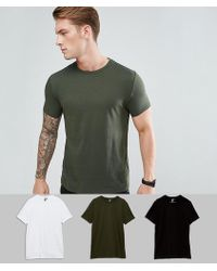ASOS - Design T-shirt With Crew Neck 3 Pack Save - Lyst