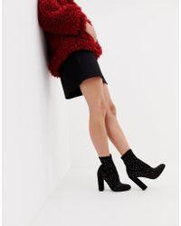 ASOS - Elsa Embellished Sock Boots - Lyst