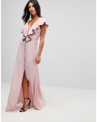 Millie Mackintosh - Dorchester Ruffle Front Maxi Dress - Lyst