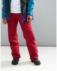 O'neill Sportswear - Jeremy Jones Sync Ski Trousers In Burgundy - Lyst
