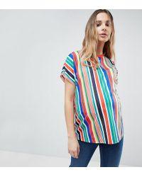 ASOS - T-shirt In Vertical Rainbow Stripe - Lyst