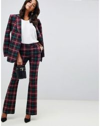 ASOS - Slim Flare In Highland Check - Lyst