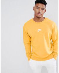 Nike - Heritage Sweatshirt In Yellow 928427-752 - Lyst