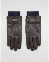 Ted Baker - Quiff Gloves In Leather - Lyst