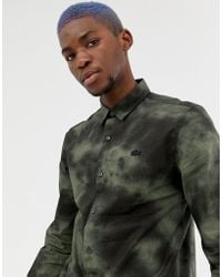 Lacoste L!ive - Lacoste L!ve Skinny Fit Abstract Shirt In Black - Lyst