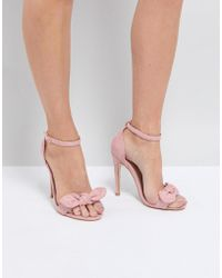 Truffle Collection - Bow Heeled Sandals - Lyst