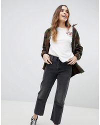 Pull&Bear - Straight Leg Jean Cropped With Frayed Hem - Lyst