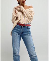 ASOS - Jeans Belt In Bamboo Heart Buckle - Lyst