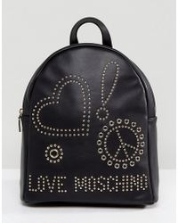 Love Moschino - Studded Back Pack - Lyst