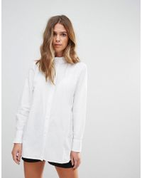 B.Young   High Neck Blouse With Frill Detail   Lyst