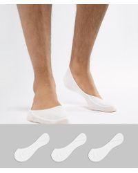 Polo Ralph Lauren - 3 Pack No Show Socks In White - Lyst