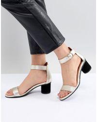 SELECTED - Metallic Heeled Sandal - Lyst