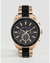 Armani Exchange - Ax1814 Chronograph Bracelet Watch In Gold/black 44mm - Lyst