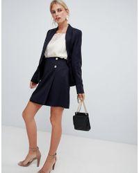 Reiss - Button Mini Skirt - Lyst