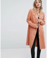 Y.A.S - Button Down Pea Coat - Lyst