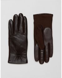 Barneys Originals - Real Leather Gloves With Smart Phone Touch Screen Compatible - Lyst