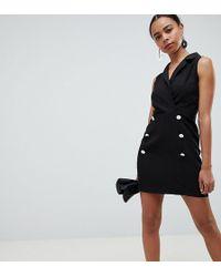ASOS - Asos Design Petite Ultimate Sleeveless Mini Tux Dress - Lyst