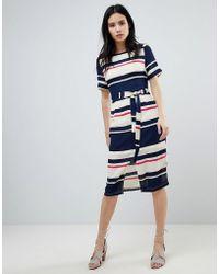 Sugarhill - Heidi Modern Stripe Belted Midi Dress - Lyst