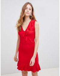 Vila - Ruffle Sleeveless Dress - Lyst