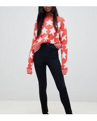 Noisy May Tall - High Waist Skinny Jean In Black - Lyst