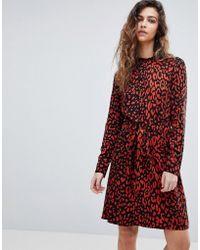 Warehouse - Leopard Print Shirt Dress - Lyst