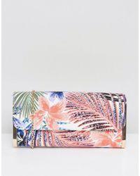 New Look - Palm Leaf Clutch Bag - Lyst