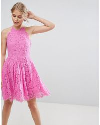 ASOS - Lace Pinny Scallop Edge Prom Mini Dress - Lyst