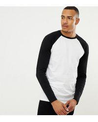 ASOS - Tall Long Sleeve T-shirt With Crew Neck With Contrast Raglan Sleeves - Lyst
