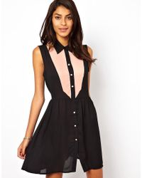 True Decadence - Shirt Dress With Cut Out - Lyst