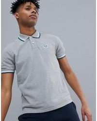 North Sails - Slim Fit Polo Shirt With Tipping & Logo Collar In Grey - Lyst