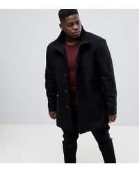 French Connection - Plus Wool Blend Funnel Neck Coat - Lyst