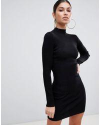 Missguided - Basic High Neck Jumper Dress - Lyst