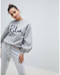 Ted Baker - Ted Says Relax Slogan Sweat - Lyst