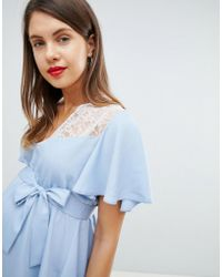 ASOS - Asos Design Maternity Exclusive Lace Insert Top - Lyst