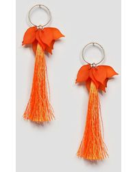 ASOS - Resin Petal And Tassel Earrings - Lyst