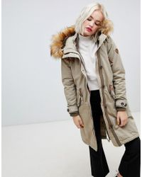 ONLY - Parka With Faux Fur Hood - Lyst