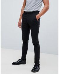 ASOS - Super Skinny Smart Trouser In Black Wool Mix - Lyst