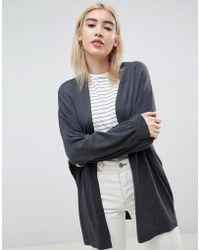 ASOS - Design Eco Cardigan In Oversize Fine Knit - Lyst