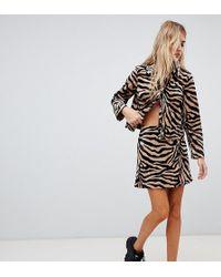 Reclaimed (vintage) - Inspired Tiger Print Skirt - Lyst
